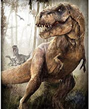 Dinosaur T-Rex Raptor DIY 5D Diamond Painting Kit, Mosaic Diamonds Kit, Full Square/Round Drill 30cm X 40cm