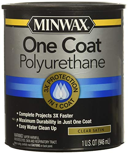 Minwax 356050000 One Coat Polyurethane, Quart, Satin