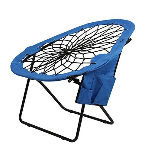 LIN HE SHOP Chaise Pliante de Plage, chaises de Lune Respirantes, Tabouret en Cuir de pêche, Portant 110KG Haut