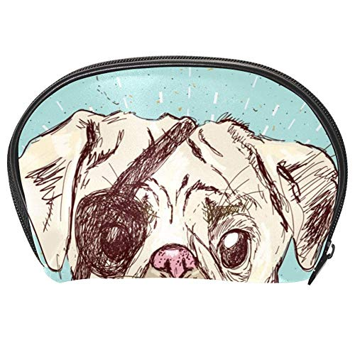Tizorax Sac à maquillage pour chien Motif carlin pirate