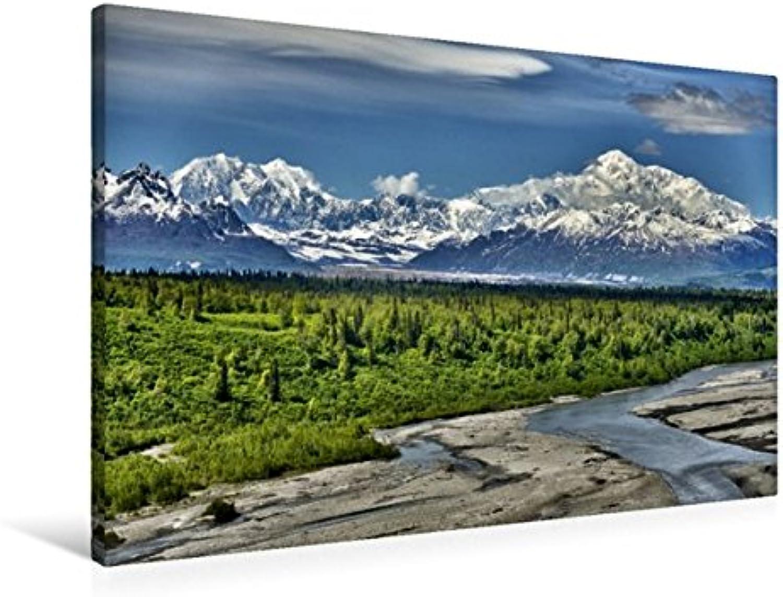 Calvendo Premium Textil-Leinwand 90 cm x 60 cm Quer, Mount McKinley -Denali   Wandbild, Bild auf Keilrahmen, Fertigbild auf Echter Leinwand, Leinwanddruck  Im Denali Park Alaska USA Natur Natur B01LEZHFAW Vorzugspreis   Diversified In Packaging