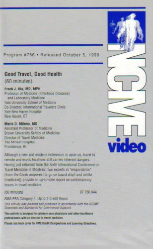 Good Travel, Good Health (NCME Video 756)