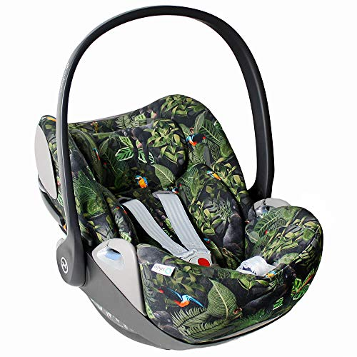 Bester der welt Kinderstuhl Jungle Green Perfect Fit CYBEX Cloud Z Bezug für Bio-Baumwolle…