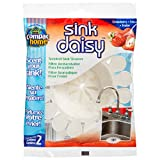 Compac Sink Daisy Scented Kitchen Sink Strainer infuses Freshens Your Sink with Crisp Clean Exciting Scents While Protecting Garbage Disposals Drains, White, Strawberry, 2 Count