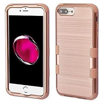 iPhone 6 Plus/6s Plus/7 Plus/8 Plus Case Mybat Tuff Dual Layer [Shock Absorbing] Protection Hybrid Brushed PC/TPU Rubber Case Cover for Apple iPhone 6 Plus/6s Plus/7 Plus/8 Plus Rose Gold