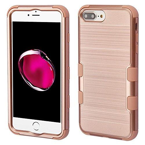 iPhone 6 Plus/6s Plus/7 Plus/8 Plus Case, Mybat Tuff Dual Layer [Shock Absorbing] Protection Hybrid Brushed PC/TPU Rubber Case Cover for Apple iPhone 6 Plus/6s Plus/7 Plus/8 Plus, Rose Gold