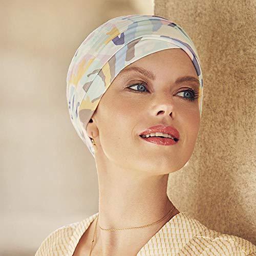 Christine Headwear Gorro Yoga con bambú estampado verano para mujeres en tratamiento de quimioterapia (grafico tonos pastel)