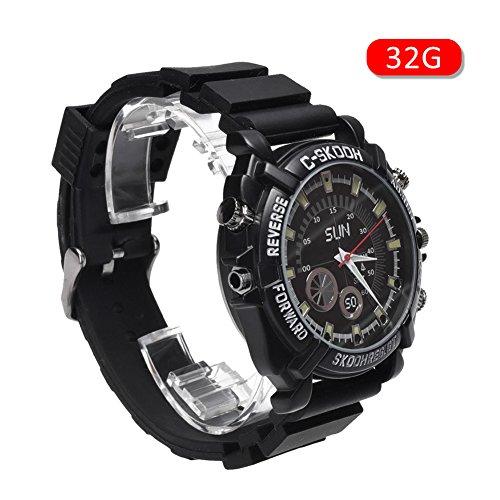 Reloj inteligente smartwatch impermeable con 32 GB/16GB, visión nocturna, mini cámara HD 1080P oculta., 32G