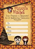 Harry Potter Invitation Cards – 20 Fill-in Invites for Kids Birthday Bash and Theme Party, 10X15 cm, Postcard Style