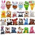 "Joyin Toy 24 Pack Mini Animal Plush Toy Assortment (24 units 3"" each) Kids Valentine Gift Easter Egg Filter Party Favors"