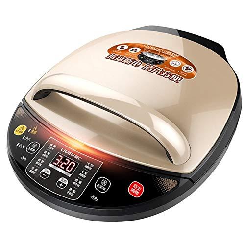 XGQ Automática de Doble eléctrico de calefacción domésticos Recipiente for Hornear la Torta de panqueque máquina Electricidad Sonido metálico (Oro) (Color : Gold)