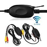 Dynavision 2.4 GHz Wireless Video Car Rear View Camera RCA Video Trasmettitore Ricevitore Kit per auto Telecamera retrovisore Monitor Ricevitore Cam DVD GPS Car Radio Player Module Adapte Trigger