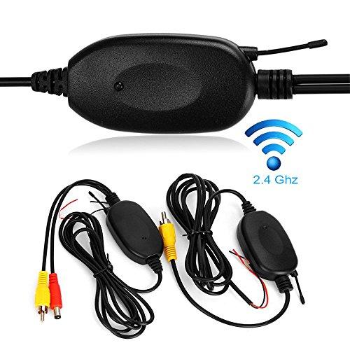 Kabellos Adapter für 2.4G Wireless Farbe Video Sender und Empfänger Kit für Auto Rückfahrkamera Monitor Empfänger Cam DVD GPS Autoradio Player Modul Adapte Trigger