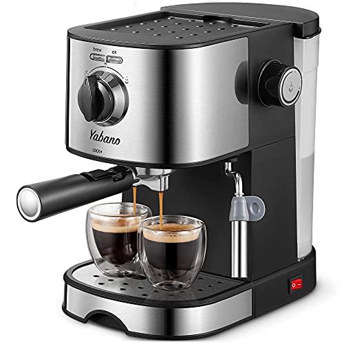 Espresso Machine, Yabano 15Bar Espresso and Cappuccino, With Milk Frother/Steam Wand, Professional Espresso Coffee Machine for Latte, Cappuccino
