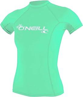 O'Neill Wetsuits Women's WMS Basic Skins Short Sleeve Rash Guard Shirt