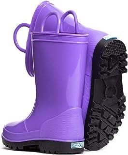 أحذية المطر المقاومة للماء للأطفال من زوجز للفتيات والأولاد والأطفال الصغار