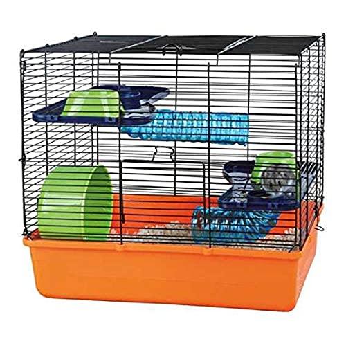 TRIXIE 6400 Cage pour Hamster Orange/Bleu/Vert 40 × 38...