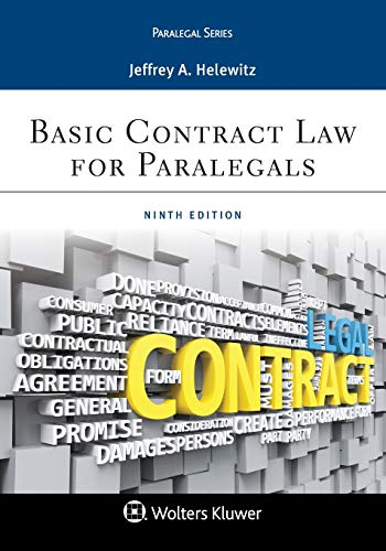 Compare Textbook Prices for Basic Contract Law for Paralegals Aspen Paralegal 9 Edition ISBN 9781454896289 by Helewitz, Jeffrey A.