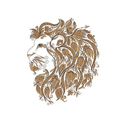 ZHOUHAOJIE 3D Tier Auto Aufkleber 13Cm * 155Cm Lion King Sternbild Aufkleber PVC Motorrad Aufkleber 11-630