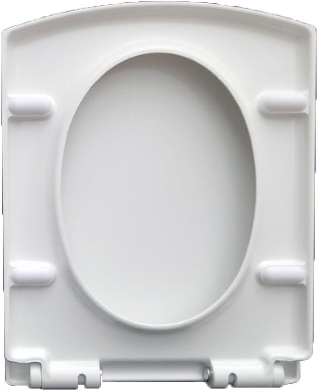 Asiento De Inodoro Universal Tapa del VáTer Square Drop Mute Antibacterial Urea Formaldehído Resina De Inodoro con Montaje Superior,A-42  35cm