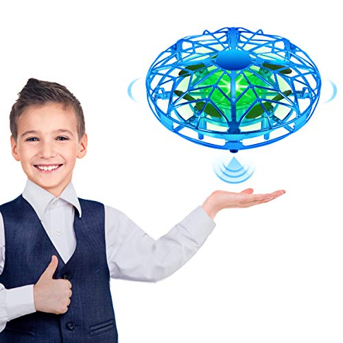 Hand Operated Drone for Kids, RC Flying Toys Mini Drone with 360° Rotating and LED Lights for Kids Boys Girls Gifts