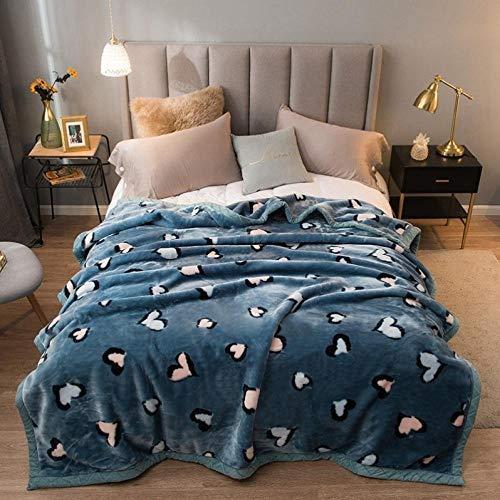Asbecky Kuscheldecke Warmes Polar Fleece über weiche Luxus-Schlafsofa-Decke werfen Doppelseitige Samtdecke-1_180x200cm-3kg