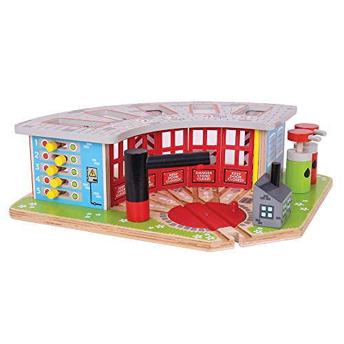 Bigjigs Rail Wooden Five Way Engine Shed - Other Major Rail Brands are Compatible