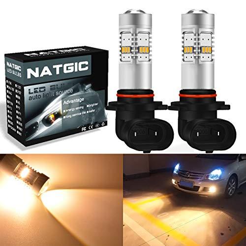Ngcat 1800 lumens 14 SMD 3020 CREE 9006 HB4 ampoules LED pour feux de brouillard DRL clignotants ampoules Back Up inversée lumières, DC 10–16 V Jaune halogène (2-Pack)