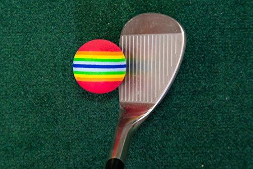 Longridge 4-In-1 Golf Chipping Net & Foam Practice Golf Balls (Pack of 6 Balls)