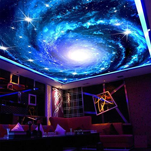 Tapete Wandbild 3D Galaxie Nebelfleck Foto Deckenbild Für Wohnzimmer Kinderzimmer Wanddekoration Benutzerdefinierte Größe Helle Sterne Wandbild, 200 * 140 cm