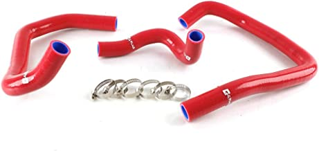Silicone Radiator Coolant Hose Kit Clamps For Kawasaki NINJA ZX6R 2005 2006 Red 3pcs