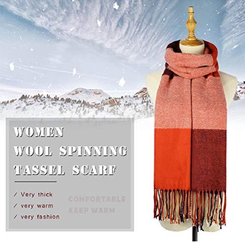 Sciarpa Donna Inverno, donna inverno scialle maglione cappotto Girl grandi Tartan Wrap Maglia Scialle Inverno Donna, Poncho Donna Invernale Stola Pashmina per Donna … (Style 1)