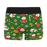 Christmas Santa Clause Snowmen Snowflakes Men's Boxer Briefs Trunks Underwear S