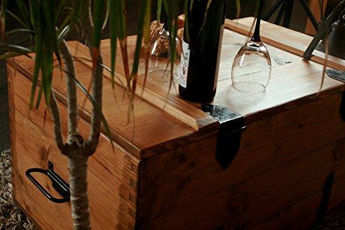Holzkiste Holztruhe Couchtisch Kaffeetisch, shabby chic, Tisch, Truhe, Kiste Länge: 80 cm Höhe: 45 cm Tiefe: 50 cm - 2
