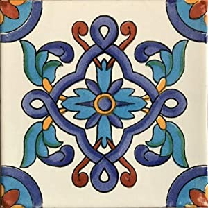 Fine Crafts Imports 2x2 36 pcs Cordoba Talavera Mexican Tile