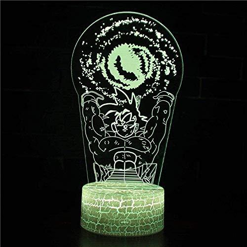 Lámpara de ilusión 3D, luz nocturna 3D, con 16 colores cambiantes y mando a distancia, personajes animados de Darth Vader