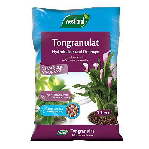 Westland Ton-Granulat für alle Topfpflanzen, Grün- und Blühpflanzen, Ton-Farbe, 10 Liter