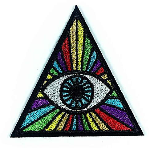 Egypt God Triangle Hand Eye Iron On Patches Embroidered Sew...