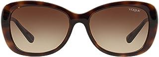 نظارة شمسية للنساء من فوغ موديل 0Vo2943Sb W65613 55، هافانا داكن/بني متدرج
