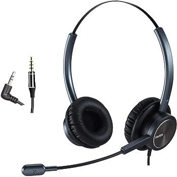 2Pack Unidirektionales Kondensator Headset Kopfmikrofon 3,5 mm Mono