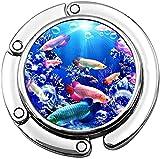 Percha plegable para bolso de mano de peces exóticos en acuario monedero de mesa gancho para colgar bolsa