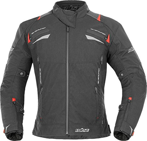 Büse Rico Motorrad Textiljacke L Schwarz/Rot