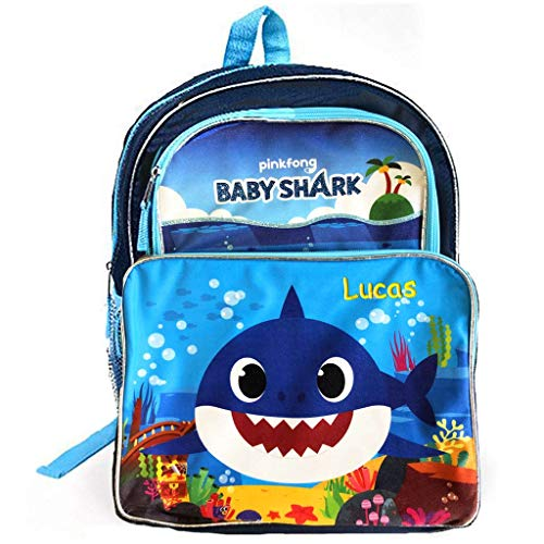 Personalized Baby Shark Backpack - 16 Inch