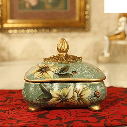 MYITIAN Europese tuin keramische opslag pot ornamenten huishoudelijke opslag sieraden box display