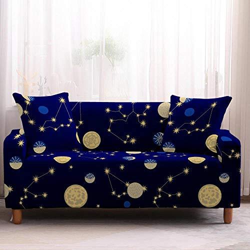 Funda elástica para sofá Planetary Universo Planetario, funda protectora para sofá seccional, antideslizante, 3 plazas, color 1