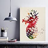 Nacnic Ananas Aquarell Poster. Wasserfarbe Stil