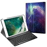 Fintie Keyboard Case for iPad 9.7 2018/2017 / iPad Air 2 / iPad Air - Slim Shell Stand Cover w/Magnetically Detachable Wireless Bluetooth Keyboard for iPad 6th / 5th Gen, Galaxy