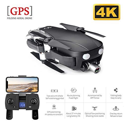 Leader Drohne mit Kamera HD 4K Faltbare WiFi FPV Live Übertragung mit GPS Optischem Fluss, 2-Achsen-Gimbal, App Steuern Für Anfänger und Kinder,Drone