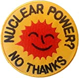La energía Nuclear - No gracias parche 7 cm de diámetro (2 - 3/4 pulgadas de diámetro) de hidromorfona/hierro en