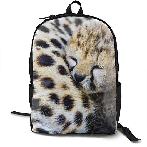 YEGFTSN Baby Cheetah Leopard Backpack School Bag Bookbag for Kids Boys Girls
